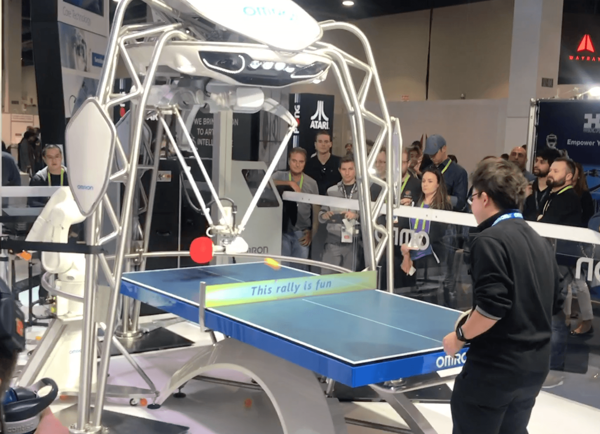 Ping Pong Playing Robot CES 2018
